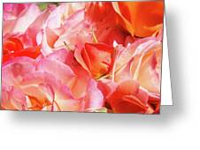 Rose Bouquet Floral Art Prints Garden Roses Baslee Troutman Greeting Card