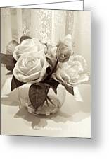 Rose Bouquet In Vinatage Greeting Card