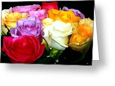 Rose Bouquet Painting Greeting Card