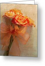 Rose Bouquet Greeting Card by Rebecca Cozart