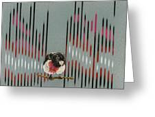 Rose Breasted Grosbeak And Song Greeting Card