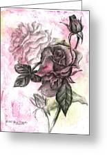 Rose Bud Pink Greeting Card