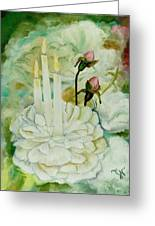 Rose Candles Greeting Card