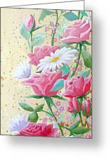 Rose Diptych 2  Greeting Card