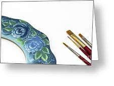 Rose Drawing On Wreath, Tole And Decorative Painting, American S Greeting Card