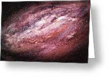 Rose Galaxy Greeting Card