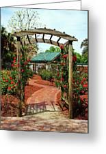 Rose Garden Entrance Greeting Card