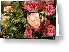 Rose Garden Greeting Card by Teri Starkweather