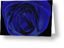 Rose Heart In Blue Velvet Greeting Card