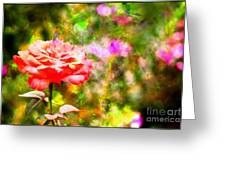 Rose Impression Greeting Card