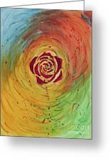 Rose In Vorteks Greeting Card