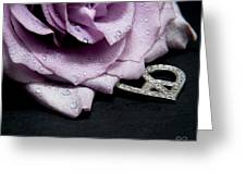 Rose Love And Peace Tow Greeting Card