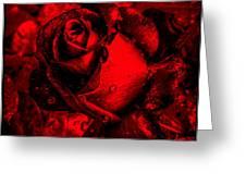 Furious Rose Magic Red Greeting Card