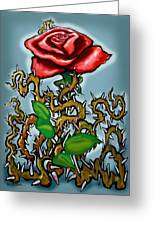 Rose N Thorns Greeting Card