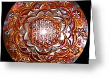 Rose Of Life Copper Lightmandala Greeting Card