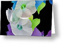 Rose Of Sharon Painted Greeting Card