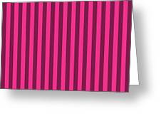 Rose Red Striped Pattern Design Greeting Card