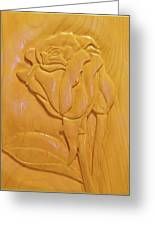 Rose Relief Greeting Card by Russell Ellingsworth