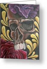Rose Skull  Greeting Card