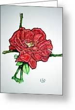 Rose Study No 1 Greeting Card