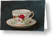 Rose Teacup Greeting Card
