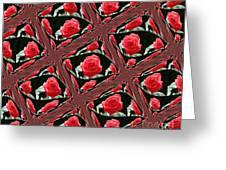Rose Tiles Greeting Card