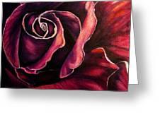 Rose Violet Greeting Card