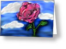 Rose Within The Clouds Greeting Card