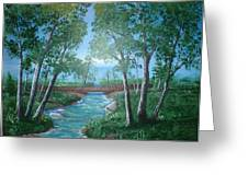 Roseanne And Dan Connor's River Bridge Greeting Card
