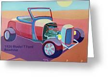 Rosebud Model T Roadster Greeting Card by Evie Cook