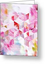 Roselique Cubes Greeting Card
