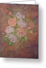 Roses All Aglow Greeting Card