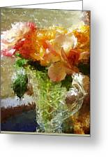 Roses And Crystal Greeting Card