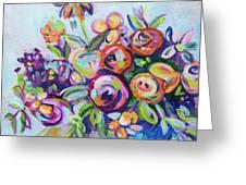 Roses And Kumquats Greeting Card