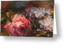 Roses And Lilacs Greeting Card