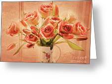 Roses And Tulips Greeting Card