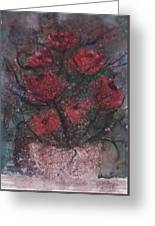 Roses At Night Gothic Surreal Modern Painting Poster Print Greeting Card