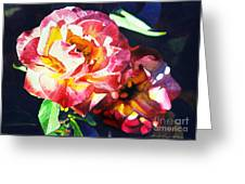 Roses Greeting Card by David Lloyd Glover
