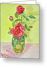 Roses For Dorothy Greeting Card