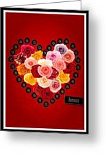 Roses For My Dear Love Greeting Card