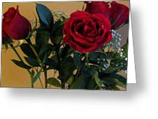 Roses For Valentines Day Greeting Card