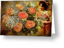 Roses From Judy Greeting Card