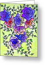 Roses Garden Greeting Card