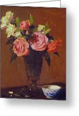 Roses In A Glass Impression Greeting Card