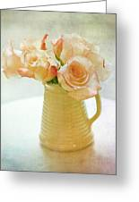 Roses In A Vase Still Life Greeting Card