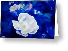 Roses In Bllue Greeting Card