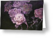 Roses In Mauve Greeting Card