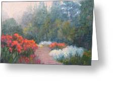 Roses In The Mist Greeting Card