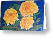 Roses In Yellow Greeting Card