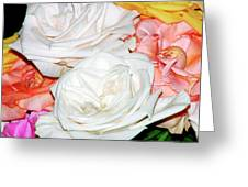 Roses Multi Color Greeting Card